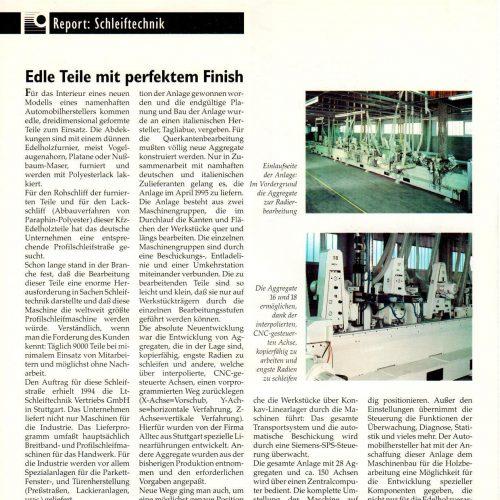 Schleiftechnik Report
