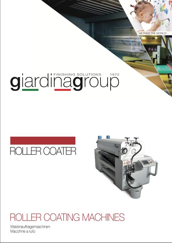 GIARDINA ROLLER COATER Walzenauftragsmaschine